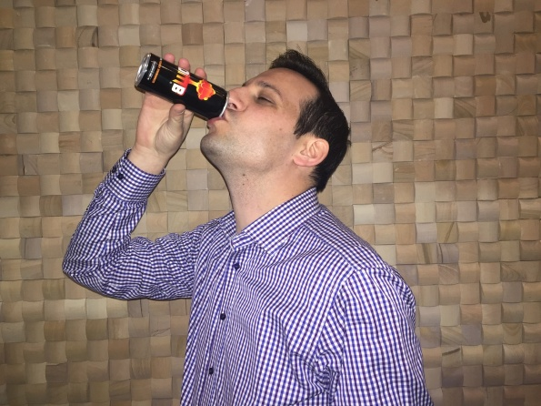 Bomb Energy Drink Dan Levy Drinking Can IMG_1920 resize