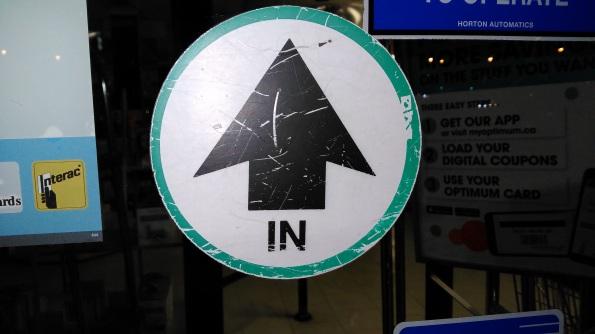 Enter Sign Door Arrow In - IMG_20160319_010322