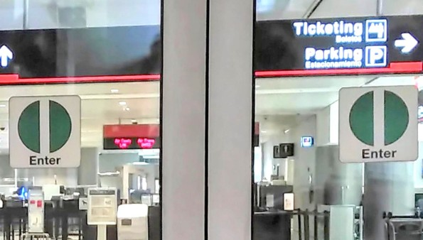Entry Signs - Miami Airport 2016.02.17