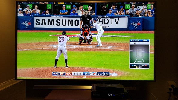 Toronto Blue Jays on Rogers Sportsnet 4k Samsung 55 inch 4k TV